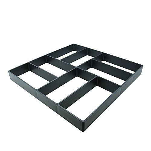 EasGear Pathmate Concrete Stepping Stone Mold Paver Walk Maker , 15.8 x 15.8in (And Concrete Patio Ideas Brick)