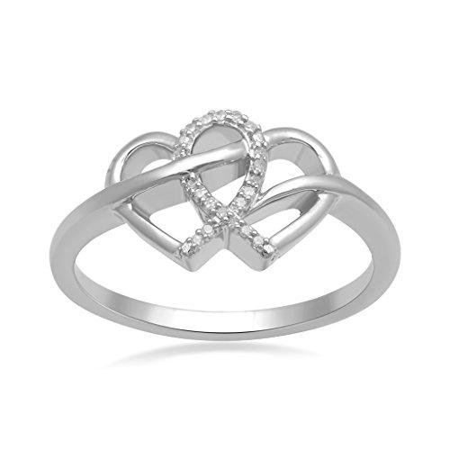 Silver Diamond Ring Size 6 Fine Jewelry