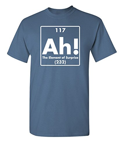 Good T-shirt Movie Feel (Ah! The Element of Surprise Science Gift idea Funny T Shirts XL Dusk)