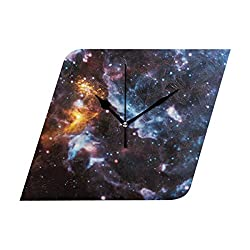 HangWang Wall Clock Illusions In The Cosmic Clouds Silent Non Ticking Decorative diamond Digital Clocks Indoor Outdoor Kitchen Bedroom Living Room