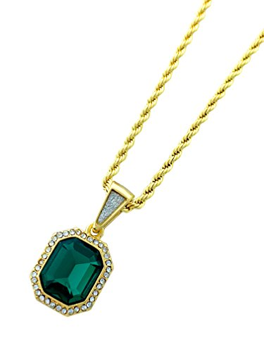 Exo Jewel Mini Gemstone Pendant Necklace with 24