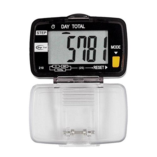 Digi 1st P-210 Dual Step Pedometer with Activity Time (Large (Compact Pedometer)