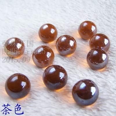 ZAMTAC 230pcs/lot Tea Color 14mm Marbles Pinball Machine Pure Color Glass Marbles Environmental Harmless Toy Ball - (Color: Tea Color)