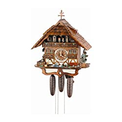 8-Day Wooden Moving Ducks Cuckoo Clock