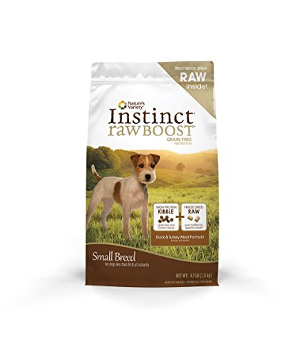 Nature's Variety Instinct Raw Boost Small Breed Grain Free Duck Meal Formula Dry Dog Food, 4.1 lb. Bag