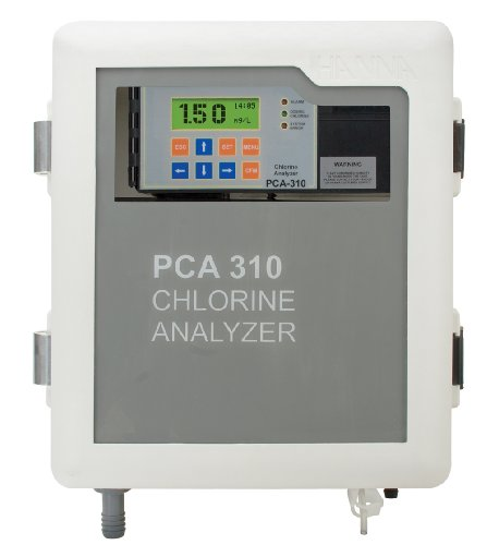 Hanna Instruments PCA310-2 Free and Total Chlorine Analyzer, 0.00 to 5.00 mg/L, +/-8 Accuracy, 0.01 mg/L Resolution, 230V -