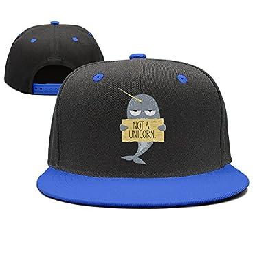 JJIMM I'm Not A Unicorn Narwhal Flat Bill Trucker Mesh Hat Baseball Cap Snapback