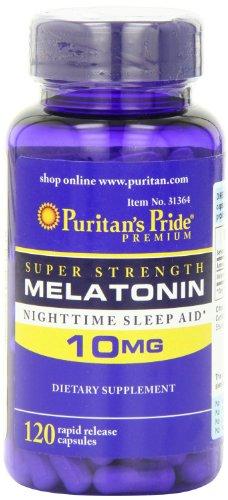 Fierté de Super Force de Puritan mélatonine 10 mg, 120 Rapid Release Capsules santé personnelle / Soins de santé