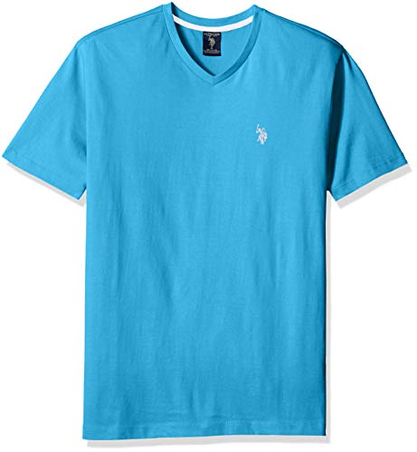 U.S. Polo Assn. Men's V-Neck T-Shirt, Coast Azure, S