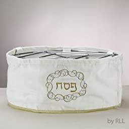Passover 3 Tier Metal Stand for Seder Plate with Curtain