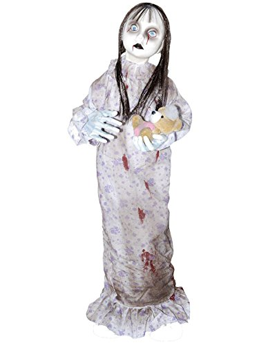 Creepy Doll For Halloween (Standing Animated Doll Halloween Decoration)