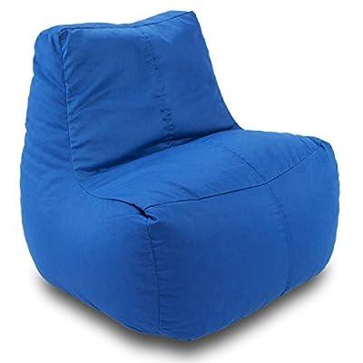 Ace Bayou Small Fabric Lounge Bean Bag - Blue