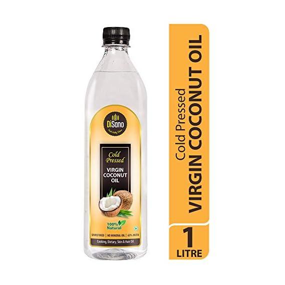 Disano Cold Press Virgin Coconut Oil Bottle, 1 L