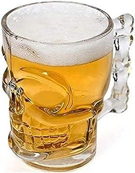 ZYYH Vaso de Cerveza con Forma de Calavera de 4 Piezas con asa, Tazas de súper Personalidad, Jarra de Cerveza, Taza de Jugo Espesado, para Barra KTV Personalidad Taza de Cerveza de Vidrio - 500 ml