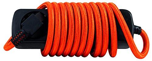 REV Ritter Steckdosenleiste, 3fach mit Kinderschutz, mit oranger Zuleitung, 2,50 m, schwarz, 1 Stück - kostenlose Lieferung