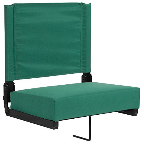 (Flash Furniture Grandstand Comfort Seats by Flash with Ultra-Padded Seat in Hunter Green)
