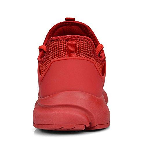 ZOCAVIA Turnschuhe Sneakers Atmungsaktive Herren Leicht Sportschuhe Rot Schnürer Damen Laufschuhe Xrrwq0P