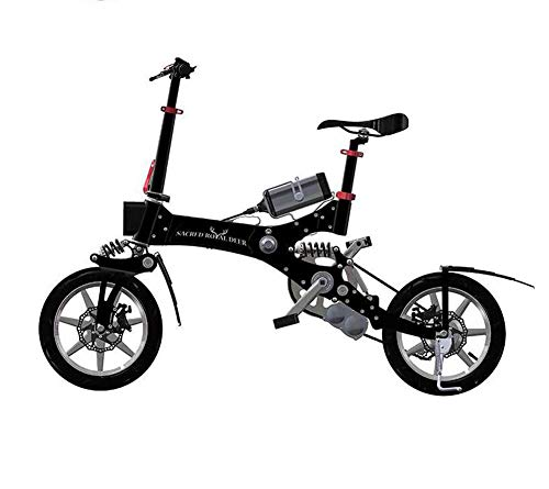 FENGFENGGUO Bicicleta eléctrica, Scooter de Dos Ruedas para Adultos Plegador de batería de Litio portátil Indicador de posición de Engranaje LED por FENGFENGGUO