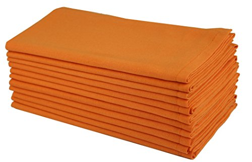 Cotton Craft- Dinner Napkins, 12 Pack Oversized Dinner Napkins 20x20 Saffron, 100% Cotton, Tailored with Mitered corners and a generous hem, Napkins are 38% larger than standard size napkins