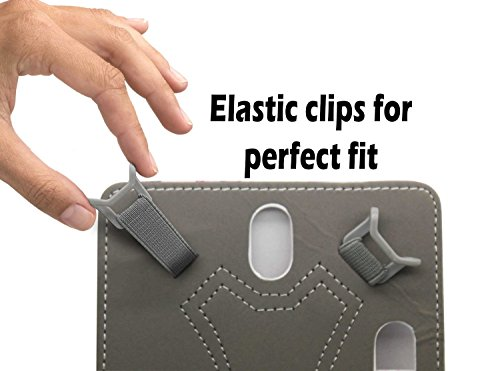 Purple Universal 8 inch Premium PU Leather Folio Style Flip