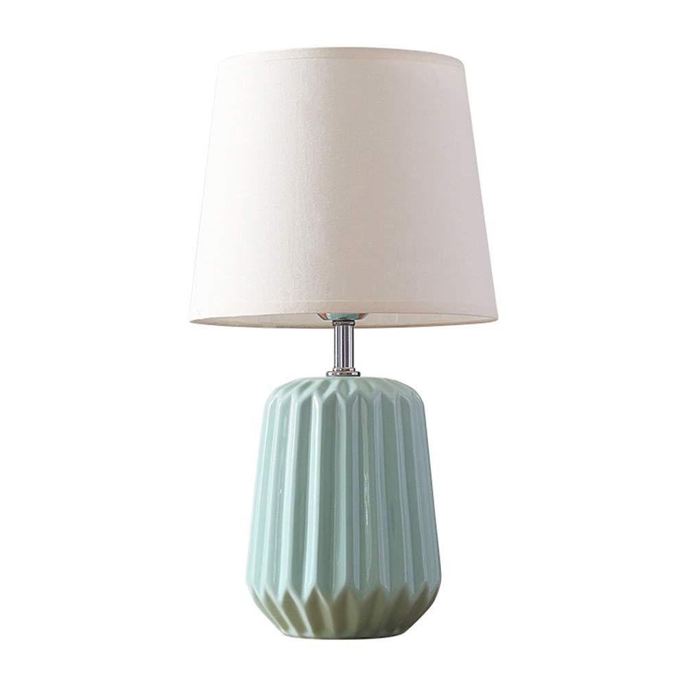 GENGJ Keramische Tischlampe, Klassische Tischlampe und Schirm Creative Small Fresh Warm Light