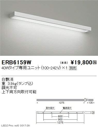 ENDO LEDテクニカルブラケット LEDZ専用ユニット用 屋内用 白 FLR40形相当 ERB6159W(ランプ別売) B07HQ559JL