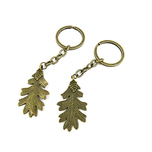 - 10 PCS Keyrings Keychains Key Ring Chains Tags Jewelry Findings Clasps Buckles Supplies P1MW4 Leaf Leaves