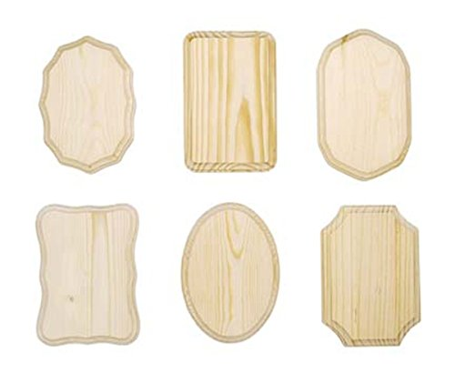 Darice 9179-63 Wooden Assorted Plaque, 7-Inch - x 6 PC ()