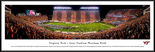 Virginia Tech Hokies Football - Stripe - Standard Framed Print by Blakeway Panoramas