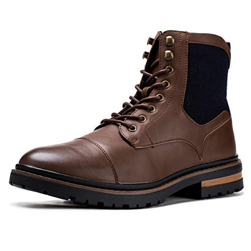 Jivana Men's Chelsea Ankle Dress Boots Oxford
