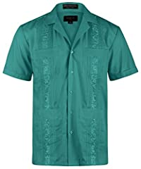 Enjoy the finest guayaberas featuring maximum comfort and style. This tropical vibe shirt is great for vacation, wedding, bartending, party and work. They are perfect for both business and casual look. Please kindly note that labeld by Omega ...