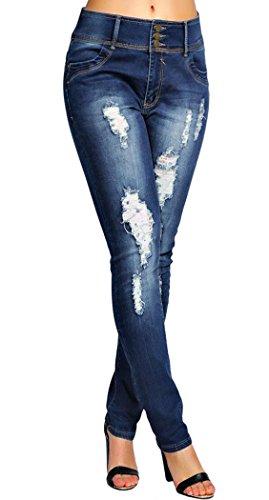 Violet Indigo Jeans SS7 Femme 54 indigo ExqzZ