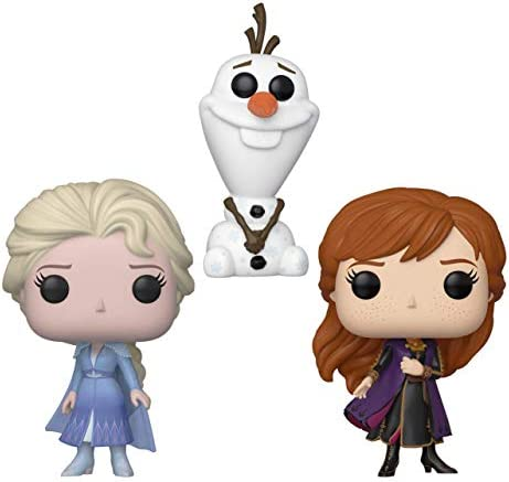Funko Pop! Disney: Frozen II – Travel Elsa, Travel Anna, & Olaf [B&N Exclusive] – Three Pack