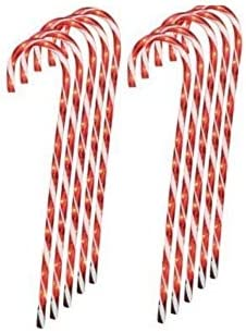 Nantucket Home Lighted Candy Cane Pathway Markers 28 -Set of 12 4-3 Packs