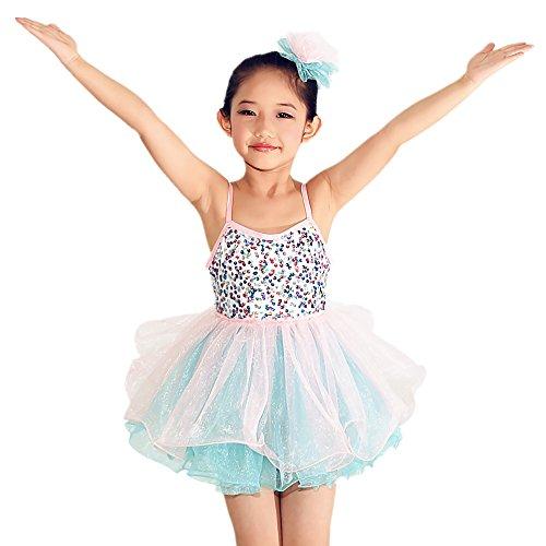 MiDee Ballet Dance Wear Leotard Ballet Girl Dance Clothes Swan Lake Ballet Costumes (LC, Pink) (Swan Ballet Costume)