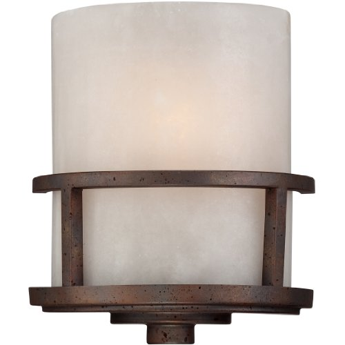 Quoizel KY8801IN Kyle Rustic Wall Sconce, 1-Light, 75 Watts, Iron Gate (11