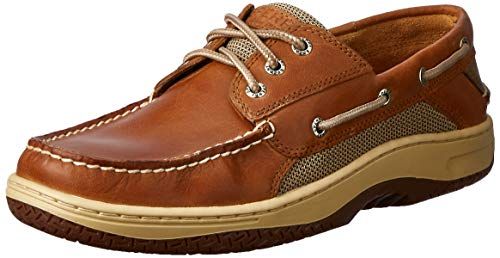 SPERRY Top-Sider Billfish Mens Casual Moc Toe Leather Boat Shoes Dark Tan WIDE WIDTH 8.5 (Shoes Boat Leather)