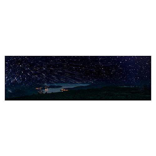 Leighhome Background Poster Mountain and Water Meteor Shower PVC Aquarium Decorative Paper L35.4 x H15.7