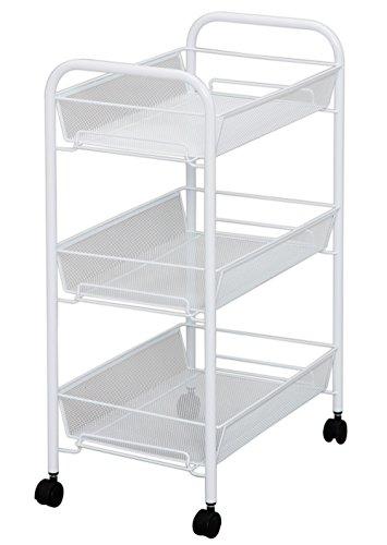 IRIS 3-Level Multi-Purpose Mesh Metal Cart (White)