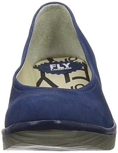 Fly London P500424074, Zapatos de Cuñas Mujer Azul (Blue/Blue 079)