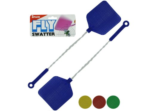 Fly Swatters with Wire Handles - Pack of 96 by bulk buys