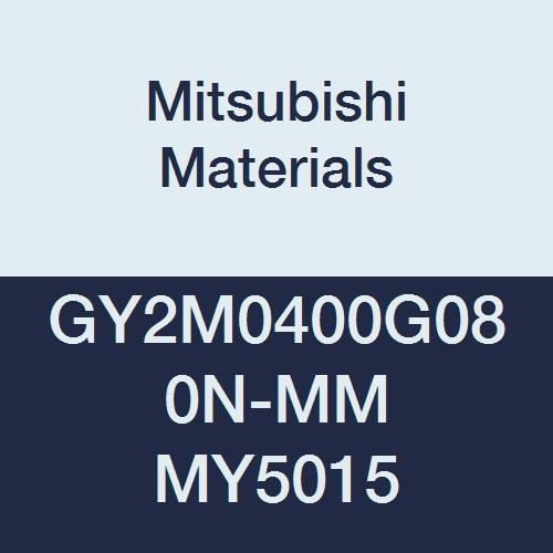 Pack of 10 0.031 Corner Radius 0.157 Grooving Width Mitsubishi Materials GY2M0400G080N-MM MY5015 GY Series Carbide Grooving Insert for Multifunctional and Medium Feeds 2 Teeth G Seat