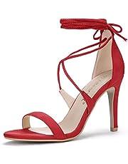 Allegra K Women's Stiletto Heel Lace-up Sandals