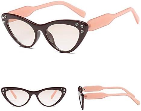 bd78db6bf2 yanhonin nuevo Cat Eye gafas de sol brillantes moda mujeres hombres  conducción playa Lady gafas UV400 única marca Designer Decoración 4