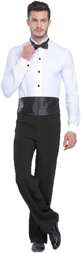 XFentech Hombres Actuaci/ón Bailando Mangas Largas Ropa Esc/énica Disfraces Jazz Trajes Lat/ín Baile Camisa Bodies