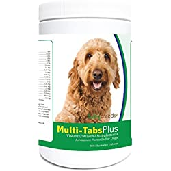 Healthy Breeds Dog Multi-Tablet and Mineral Supplement Chewable Tabs for Golden Doodle - Over 80 Breeds – 180, 365 Chews – Formula for Young or Senior Pets – Easier Than Liquid, Powder