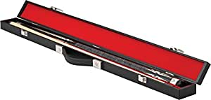 Casemaster Deluxe Billiard/Pool Cue Hard Case, Holds 1 Complete 2-Piece Cue (1 Butt/1 Shaft)