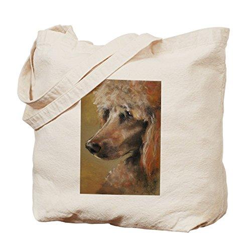 CafePress - Tote Bag - Natural Canvas Tote Bag, Cloth Shopping Bag (Red Poodle)