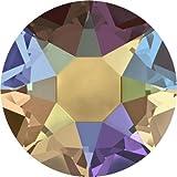 2000, 2038 & 2078 Swarovski Flatback Crystals Hotfix Topaz Shimmer