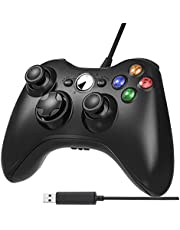 Xbox 360 Controlador de Gamepad, Rixow Mando USB de Xbox 360 Compatible para Windows XP/7/8/10, Android (TV box / Tablet)